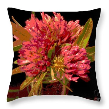 Red Clover 1 Throw Pillow by Martin Howard