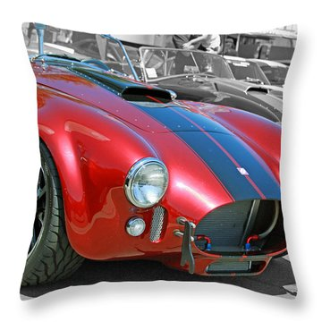 Throw Pillow featuring the photograph Red Cobra by Shoal Hollingsworth