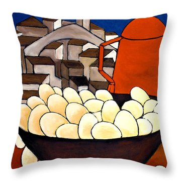 Red Coffee Pot Throw Pillow
