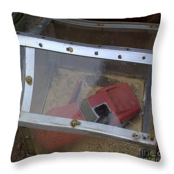Throw Pillow featuring the photograph Red Corvette by Steven Macanka