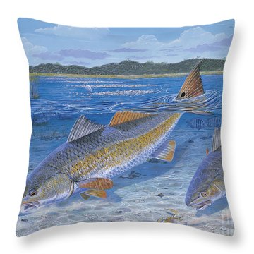 Red Creek In0010 Throw Pillow by Carey Chen