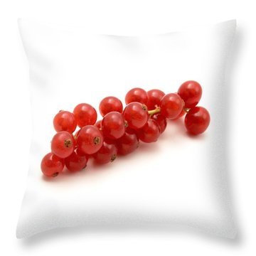 Red Currant Throw Pillow by Fabrizio Troiani