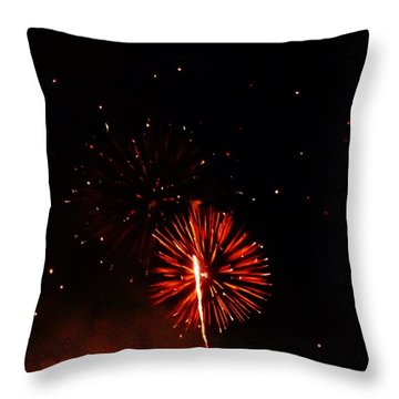Throw Pillow featuring the photograph Red Dahlia by Amar Sheow