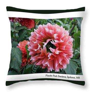 Throw Pillow featuring the photograph Red Dahlia by Ellen Tully