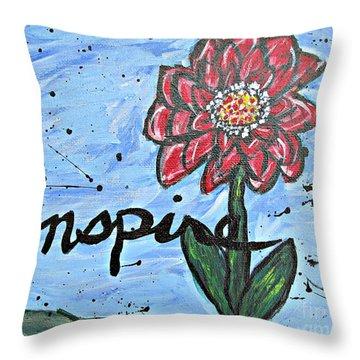 Red Dahlia Inspire Throw Pillow