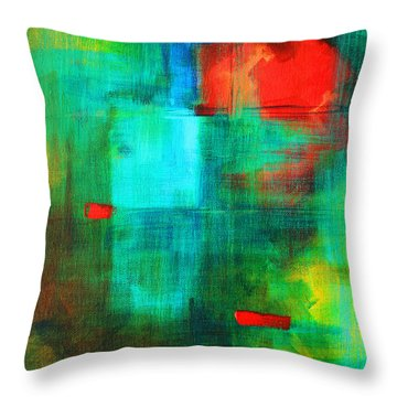 Red Dash Throw Pillow