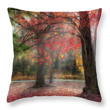 Red Dawn Square Throw Pillow