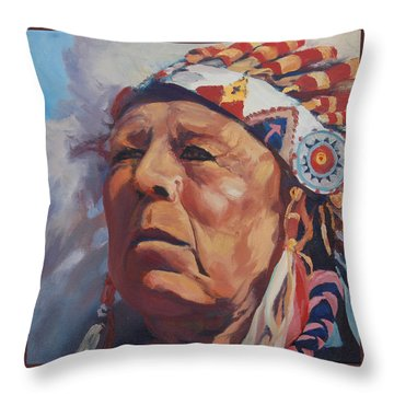 Red Deer Throw Pillow