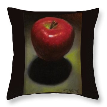Red Delicious Throw Pillow by Blue Sky