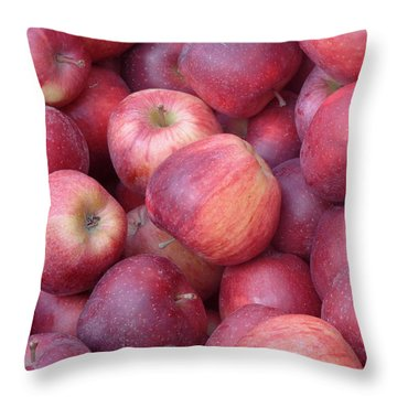 Throw Pillow featuring the photograph Red Delicious by Joseph Skompski