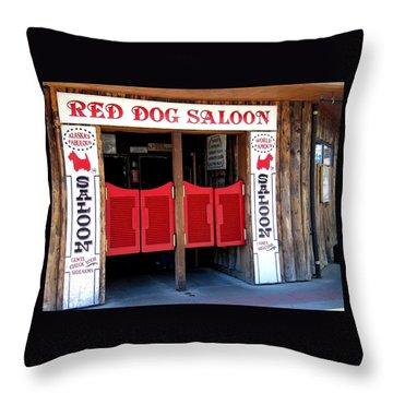 Red Dog Saloon Juneau Throw Pillow