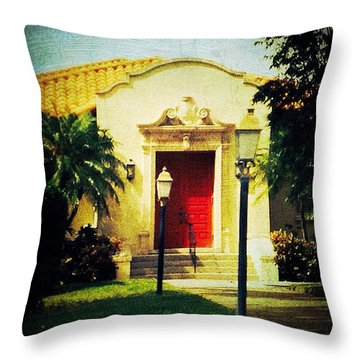 Red Door 1 Throw Pillow by Beth Williams
