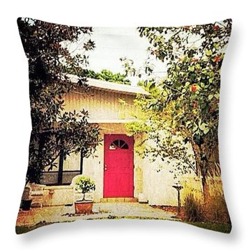 Red Door 6 Throw Pillow by Beth Williams