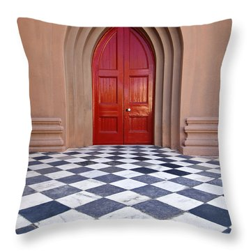 Red Door - D001859 Throw Pillow
