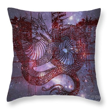 Red Dragon 2 Throw Pillow by Kelly Awad