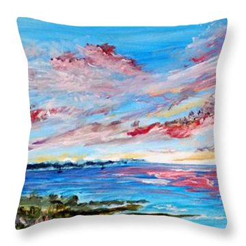 Red Dragons Throw Pillow