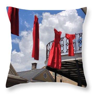 Red Dress Lineup  Throw Pillow