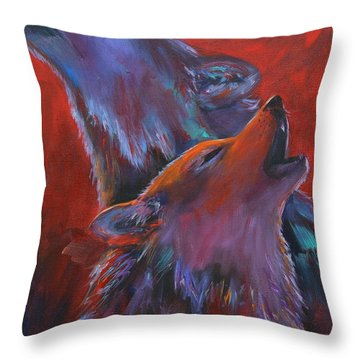 Red Dusk Throw Pillow by Cher Devereaux