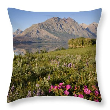Throw Pillow featuring the photograph Red Eagle Mountain by Jack Bell