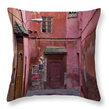 Red End Throw Pillow