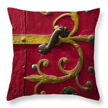 Red Entrance Throw Pillow