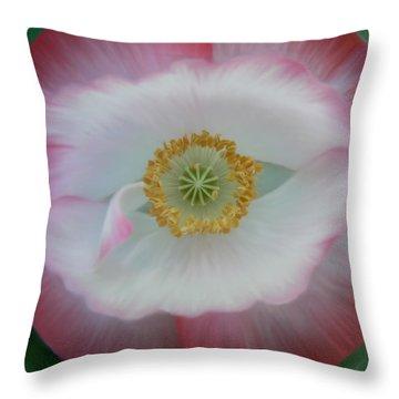 Red Eye Poppy Throw Pillow by Barbara St Jean