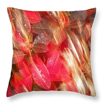 Red Fall Leaves 10 Throw Pillow
