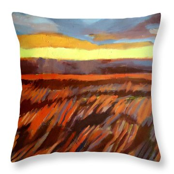 Throw Pillow featuring the painting Red Field by Helena Wierzbicki