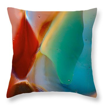 Red Fish Green Fish Throw Pillow by Omaste Witkowski