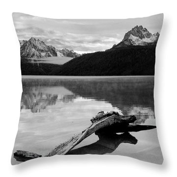 Red Fish Lake Idaho Throw Pillow