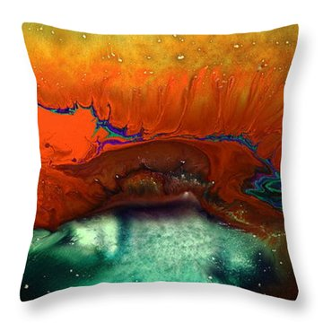 Red Fizz Throw Pillow