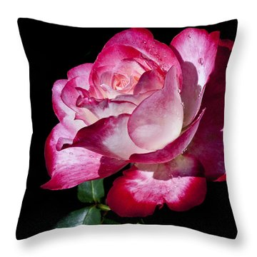 Throw Pillow featuring the photograph Red Flame by Doug Norkum