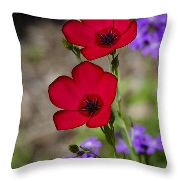Red Flax  Throw Pillow by Saija  Lehtonen