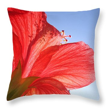 Red Flower In The Sun By Jan Marvin Studios Throw Pillow