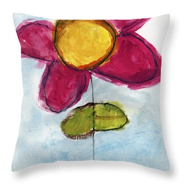 Red Flower Throw Pillow by Skip Nall