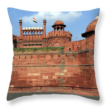 Red Fort New Delhi India Throw Pillow