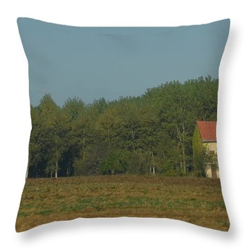 Red French Cottage Throw Pillow