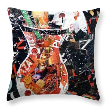 Red Fruit Cocktail Throw Pillow by Suzy Pal Powell