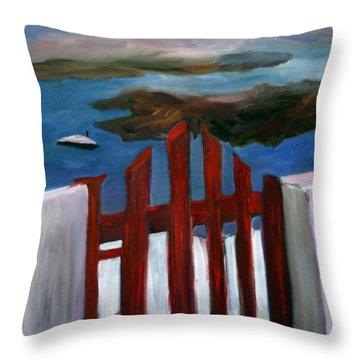 Red Gate To Atlantis Throw Pillow