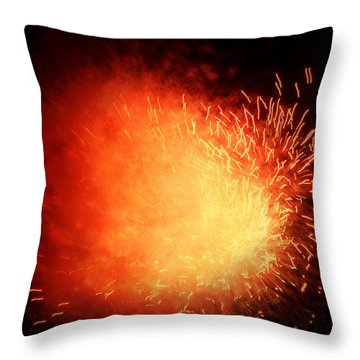 Red Giant  Throw Pillow by Cynthia Lassiter