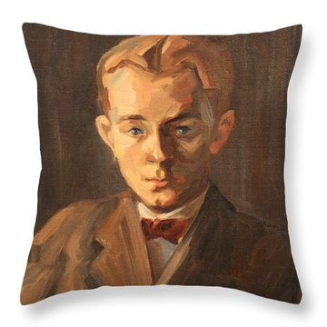 Red Haired Man - 1926 Throw Pillow