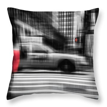 RED Throw Pillow by Hannes Cmarits