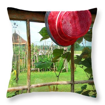 Red Hat By Jan Marvin Throw Pillow