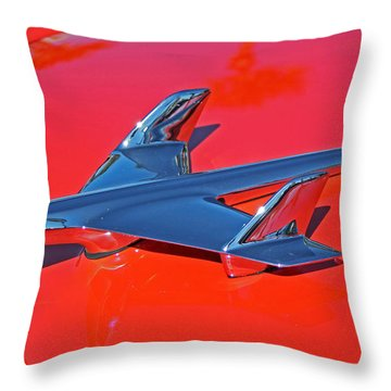 Red Hawk Throw Pillow