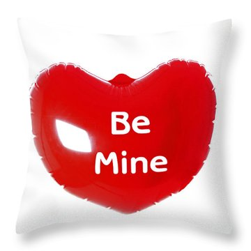 Throw Pillow featuring the photograph Red Heart Balloon by Craig B
