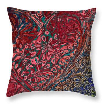 Red Heart Throw Pillow by David Pantuso