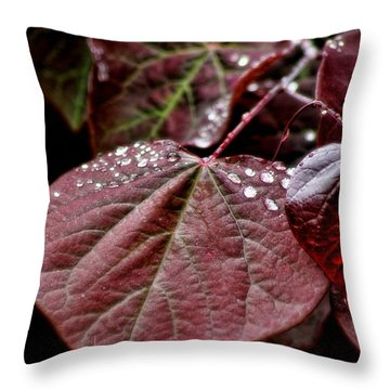 Red Heart Throw Pillow by Peggy Hughes