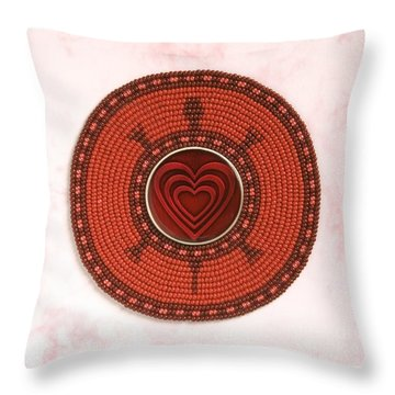 Red Heart Turtle Throw Pillow