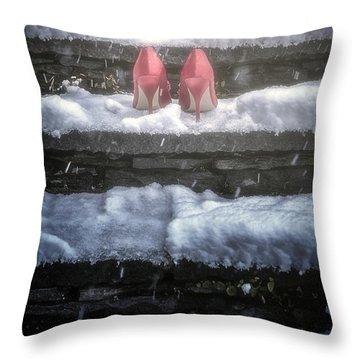 Red High Heels Throw Pillow by Joana Kruse