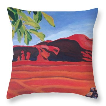 Red Hills In The Republic Of Georgia Throw Pillow
